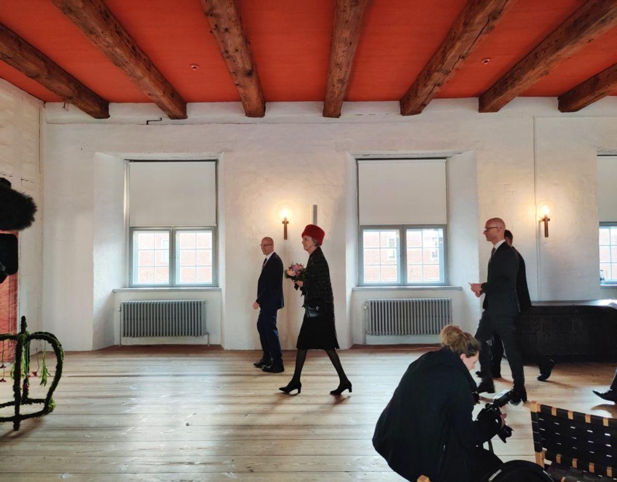 Prinsesse Benedikte åbnede fredag den 17. januar udstillingen 100 år med Danmark – Sønderjylland siden genforeningen. Foto: Museum Sønderjylland