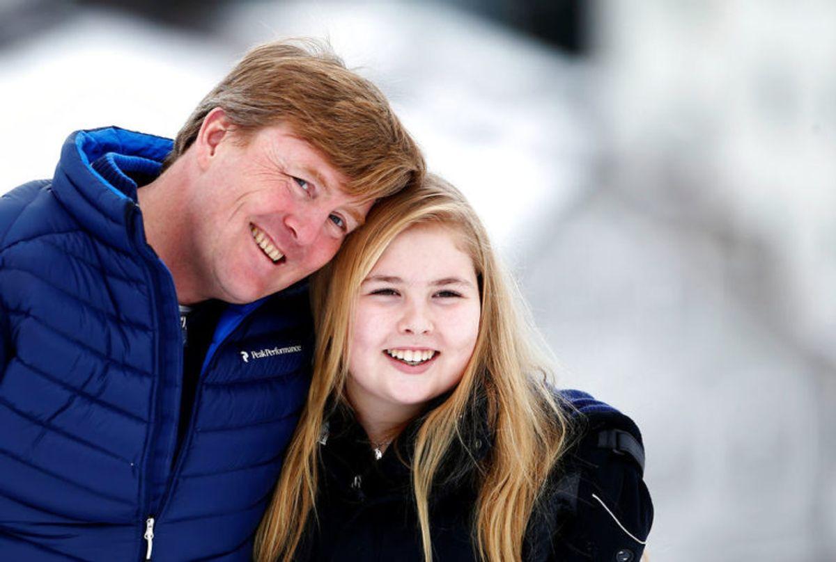 Kronprinsesse Catharina-Amalia af Holland er i dag 16 år gammel. Hun skal arve tronen fra sin far, Willem-Alexander. KLIK VIDERE OG SE DE ANDRE TRONFØLGERE I EUROPA(Foto: Scanpix)