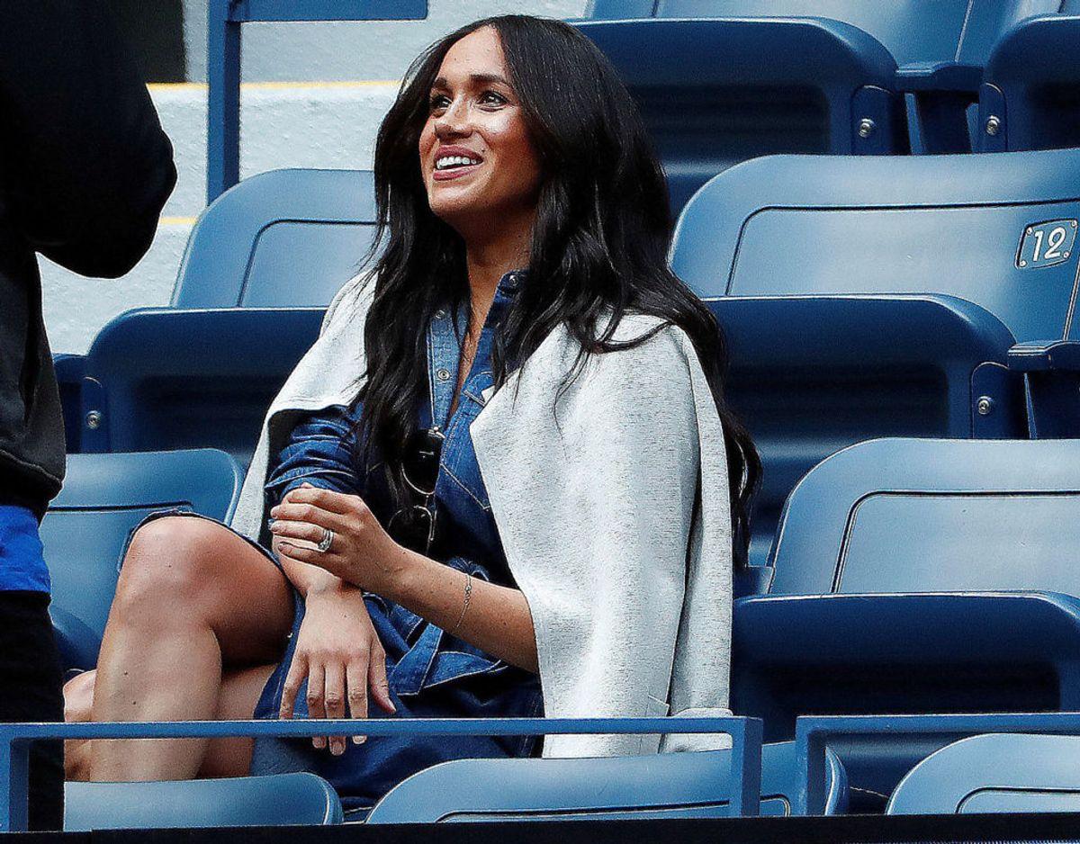 Serena Williams var meget glad for, at Hertuginde Meghan foretog den lange rejse kun for hende. Foto: Scanpix.
