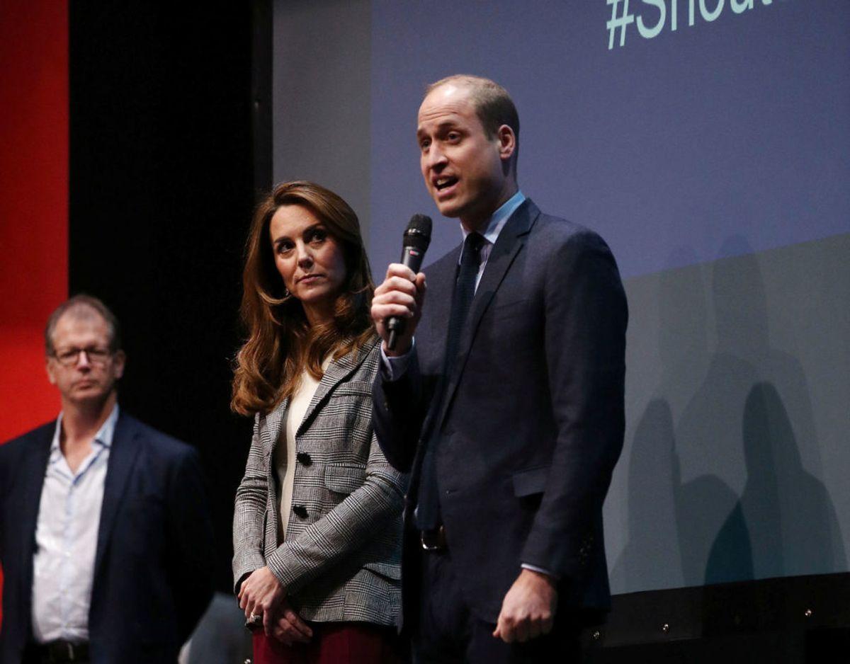 Prins William under sin tale ved Shout arrangementet, der foregik på Troubadour White City Theatre i London tirsdag formiddag. Klik videre for flere billeder. Foto: Scanpix/Yui Mok/Pool via REUTERS