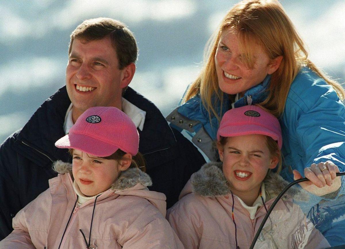Mens alt var fryd og gammen mellem Sarah Ferguson og prins Andrew. Foto: Jean-Bernard Sieber/Scanpix.