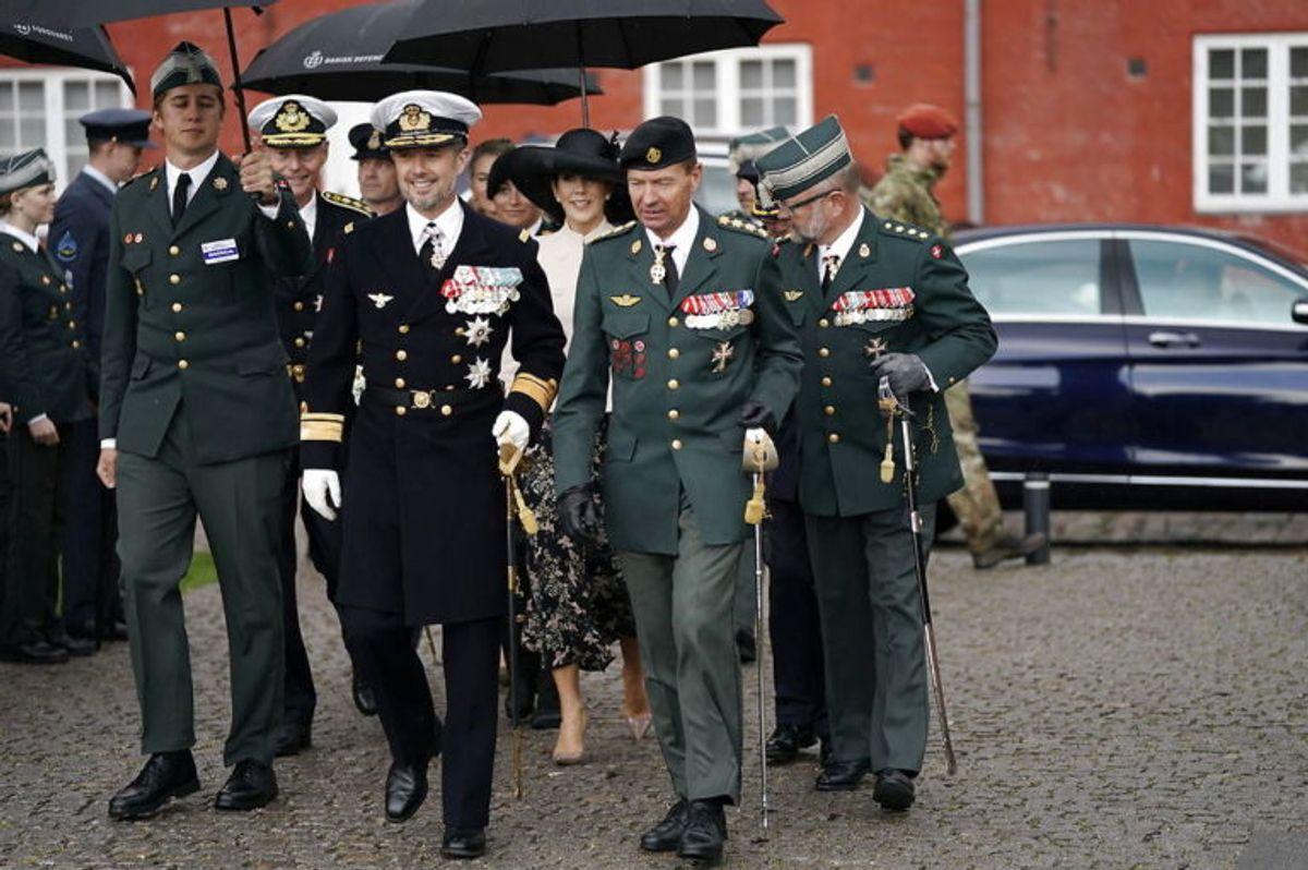 Kronprinsparret var med til at markere Flagdagen. Foto: Niels Christian Vilmann/Scanpix.