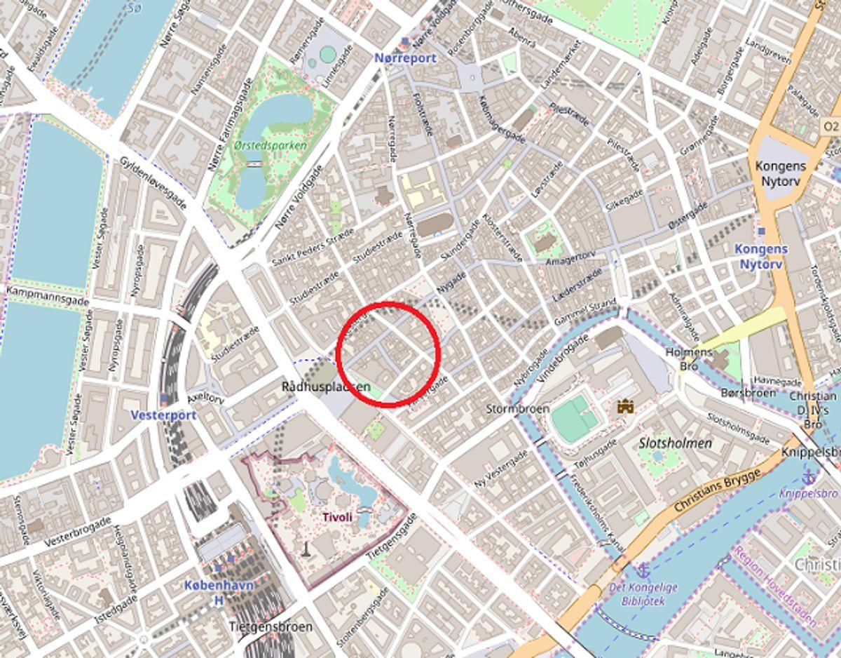 Uge 34: Drugstore, Mikkel Bryggers Gade 10, København 5.988.628 kroner. Foto: ©OpenStreetMap-bidragsydere.