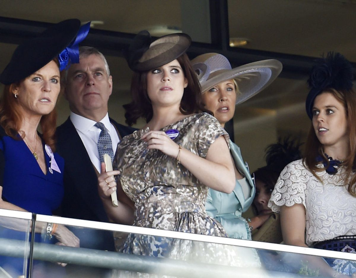 Prins Andrew var gift med Sarah Ferguson, kaldet Fergie, fra 1986 til 1996. Sammen har de døtrene Beatrice og Eugenie. Foto: Scanpix/Toby Melville Livepic
