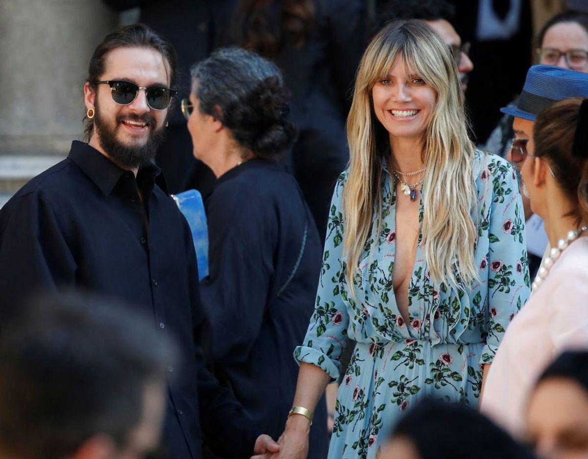 Supermodellen Heidi Klum har nu for anden gang givet sit ja til Tokio Hotel guitaristen Tom Kaulitz. Det skete på en luksusyacht i Capri, Italien. Klik videre for flere billeder. Foto: Scanpix/REUTERS/Charles Platiau