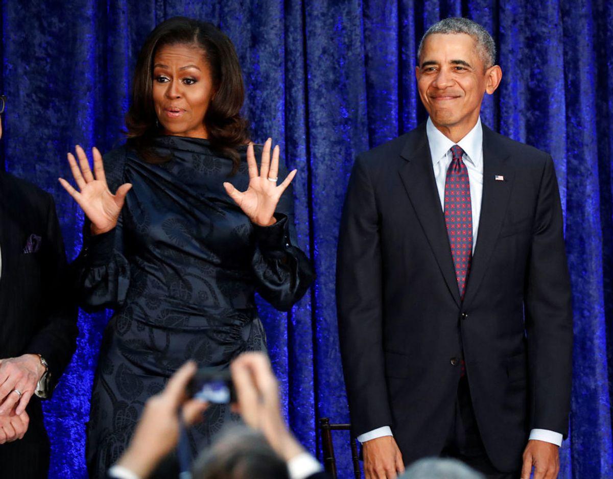 Michelle og Meghan er nu gode venner. Foto: Scanpix/Jim Bourg.