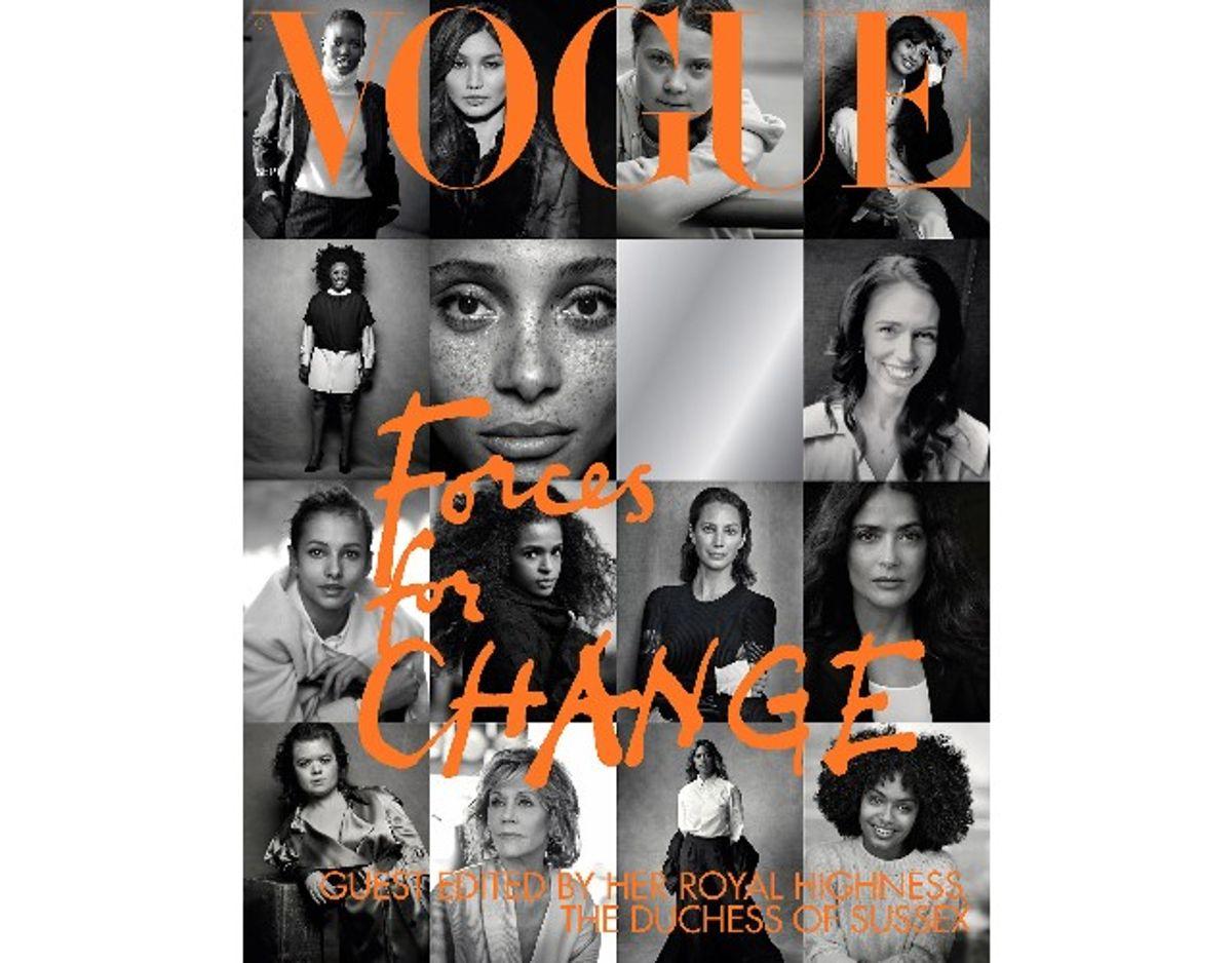 Hertuginden Meghan har selv udvalgt de 15 kvinder, der er portrætteret på forsiden af det britiske Vogue. Klik videre og læs mere om de kvinder. Foto: Scanpix