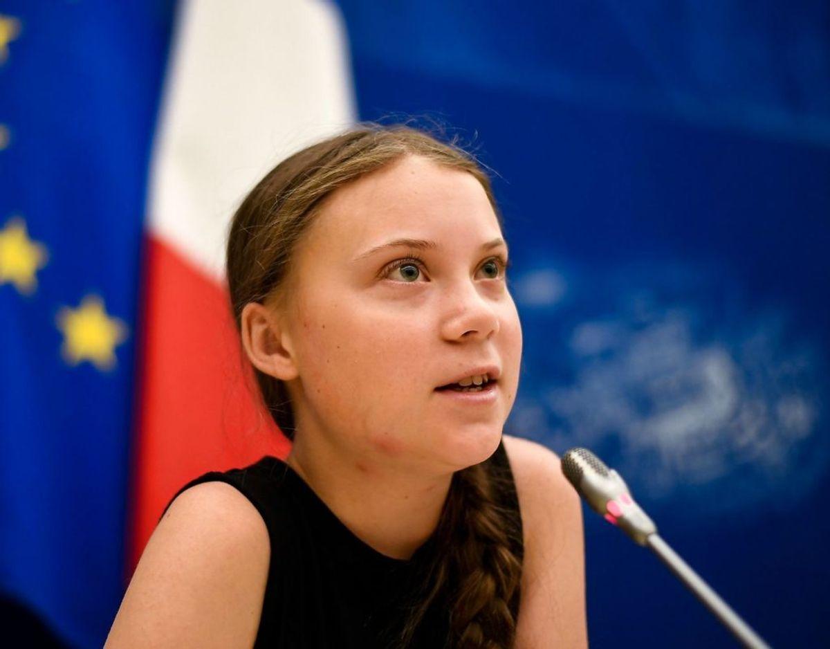 Klimaforkæmper Greta Thunberg er også på forsiden. Hun blev særligt kendt for at strejke fra skolen, for at få politikere til at fokusere på klimaet. Foto: Scanpix