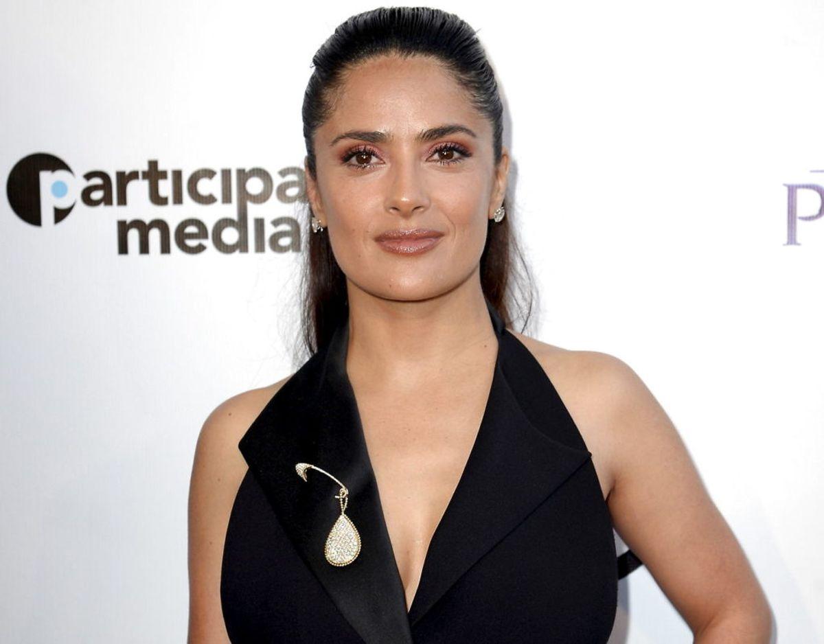 Salma Hayek-Pinault har talt åbent om at Harvey Weinstein har chikaneret og truet hende i forbindelse med me too-kampagnen. Foto: Scanpix