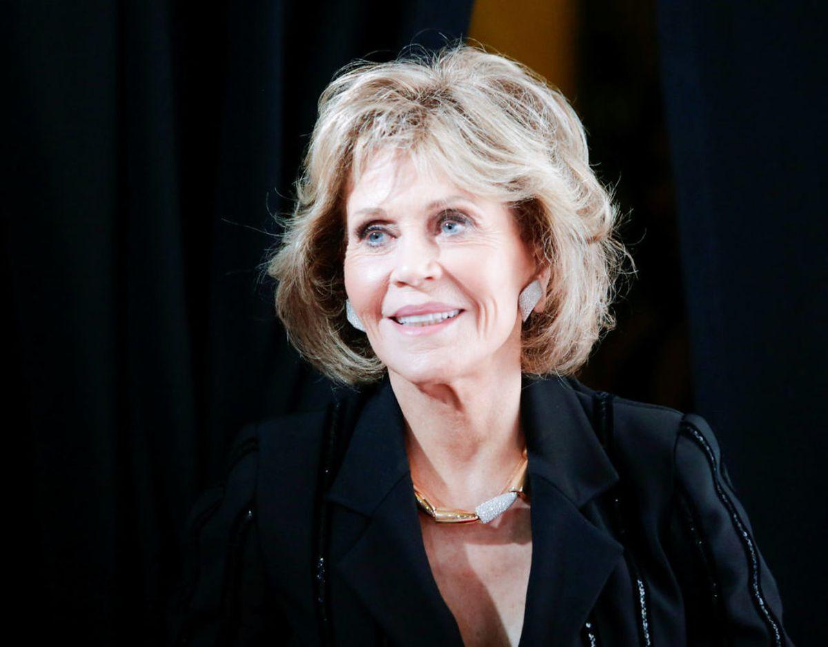 Skuespilleren Jane Fonda protesterer mod krig, kæmper for kvinders rettigheder og støtter me too-kampagnen. Foto: Scanpix