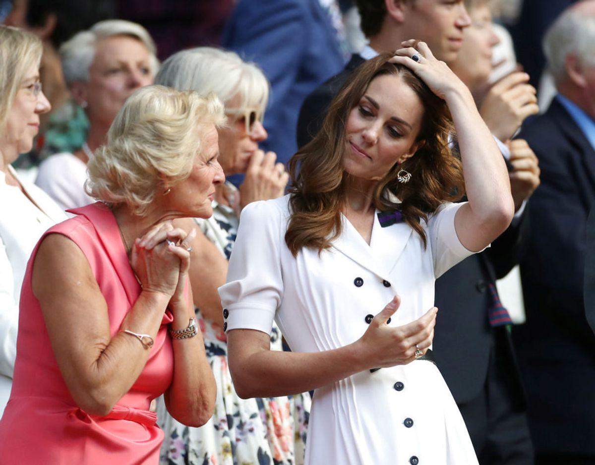 Også hertuginde Kate har været på plads. Foto: Scanpix