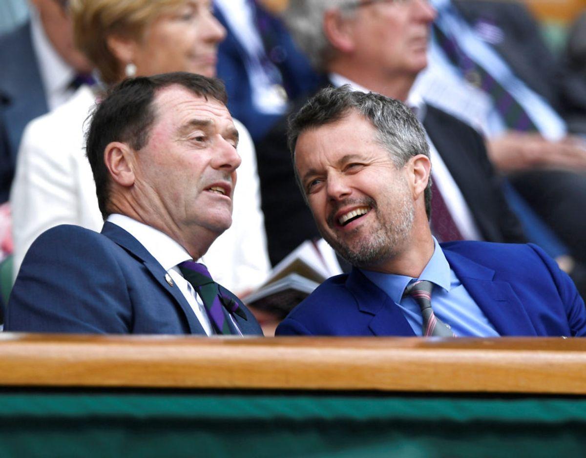 De royale har så småt vist sig som tilskuere ved dette års Wimbledon. Både hertuginde Kate og vores egen kronprins Frederik har siddet på lægterne ved den store tennisturnering. Foto: Scanpix