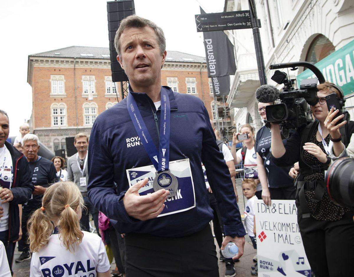 Kronprinsen var ikke med til Royal Run i den grad han håbede i 2019. Men fremtiden lysner måske. KLIK FOR MERE. Foto: Scanpix