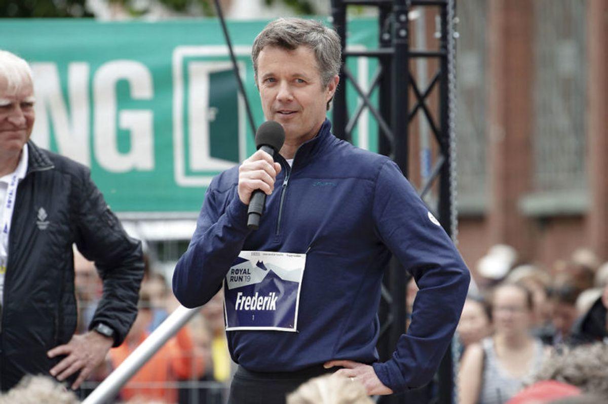 Frederik løb ikke med ved Royal Run 2019. Men han var der, Foto: Scanpix. KLIK for mere
