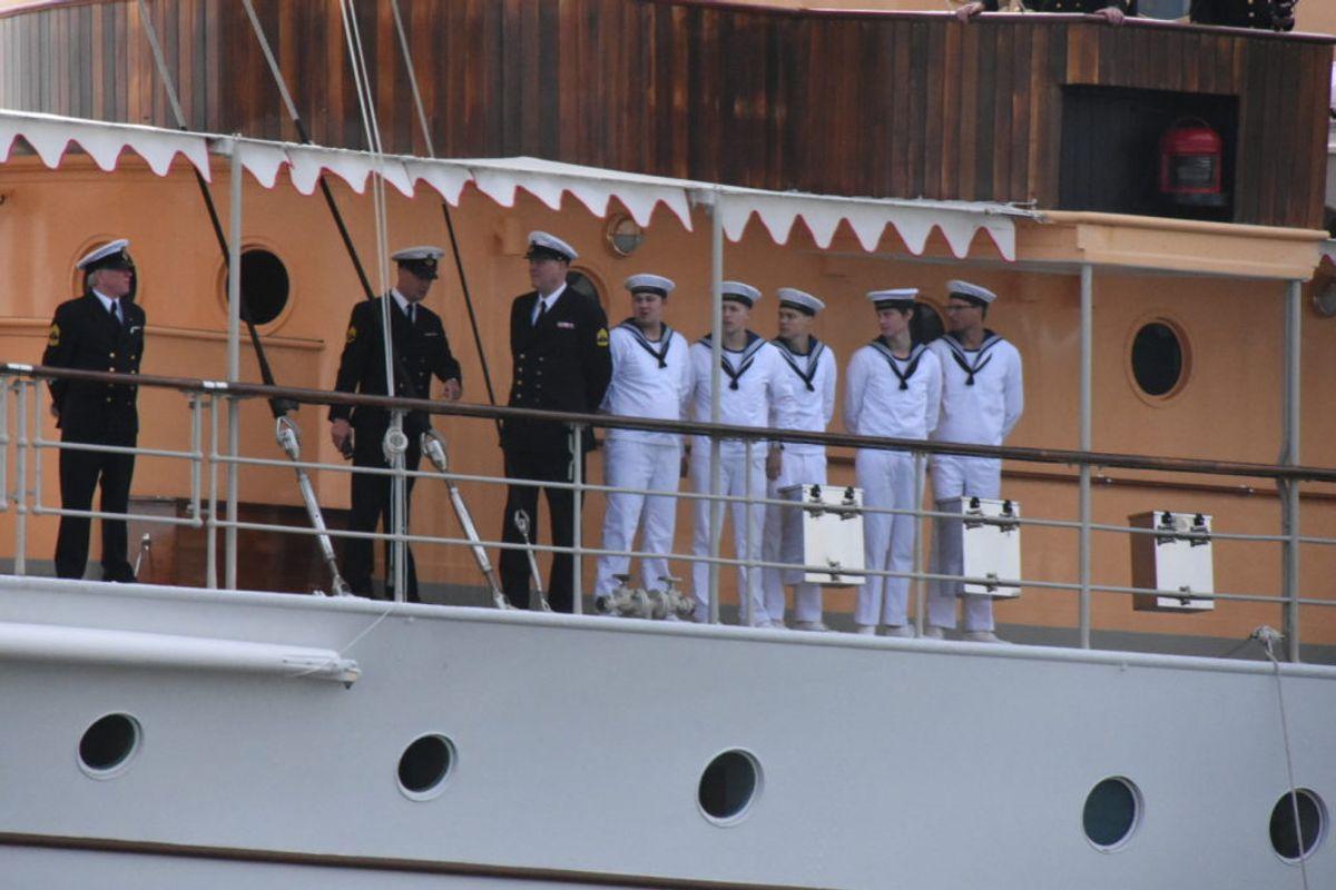 Kronprinsen gjorde noget af en entré i Aarhus. KLIK VIDERE OG SE DE MANGE BILLEDER. Foto: Øxenholt Foto