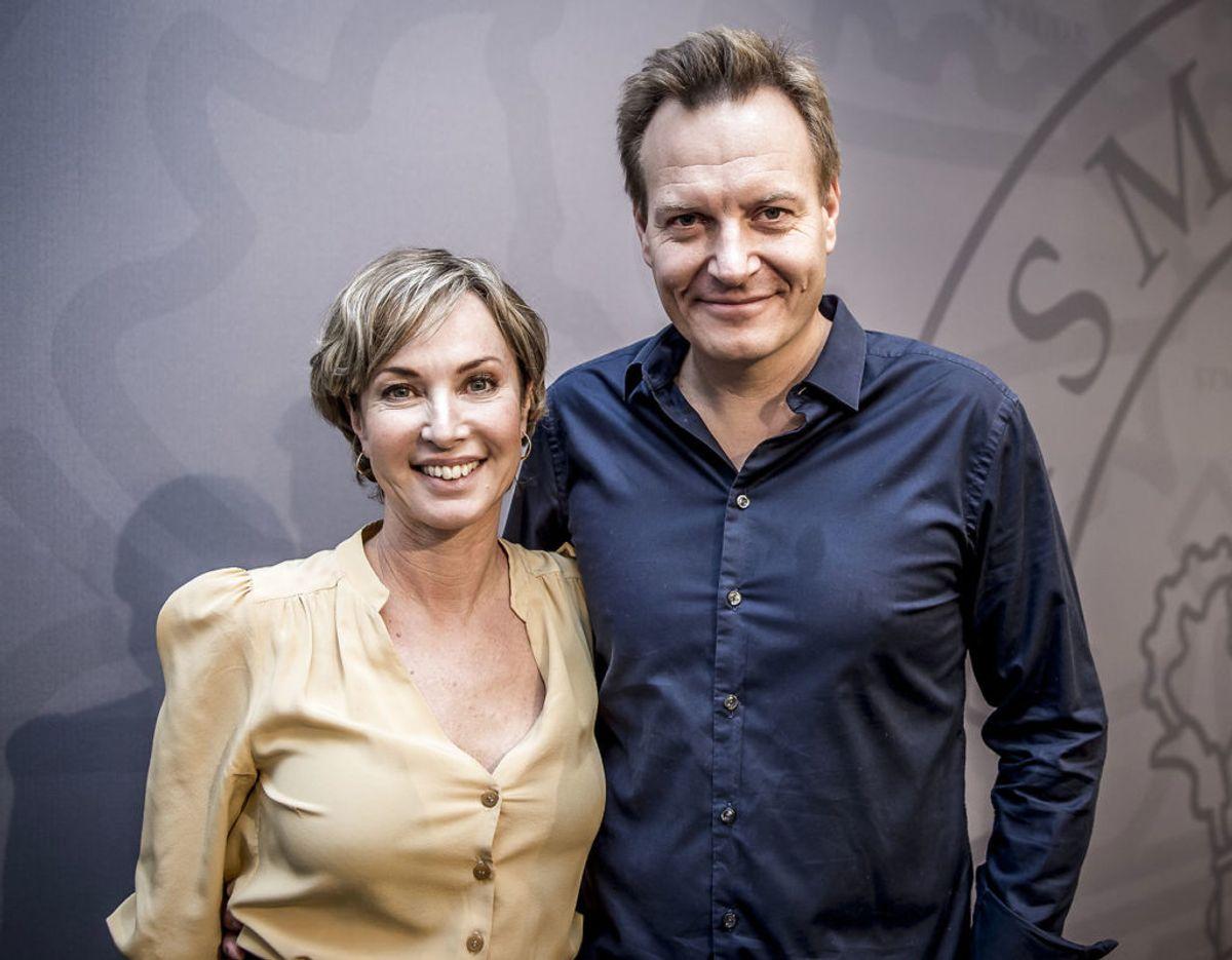 Rasmus Tantholdt danner par med nyhedsvært Natasja Crone. Foto: Scanpix