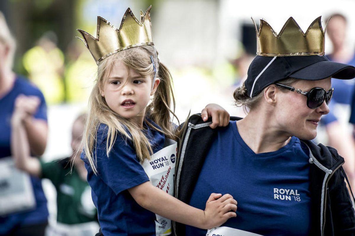 Kronprins Frederik løber Royal Run i Aarhus, mandag den 21. maj 2018. I løbet af dagen løber Kronprinsen i Danmarks fem største byer i forbindelse med, at han fylder 50 år den 26. maj 2018. Royal Run-løbet er delt op i temaer, der afspejler Kronprinsens liv. I Aarhus er temaet studietiden.. (Foto: Mads Claus Rasmussen/Ritzau Scanpix)