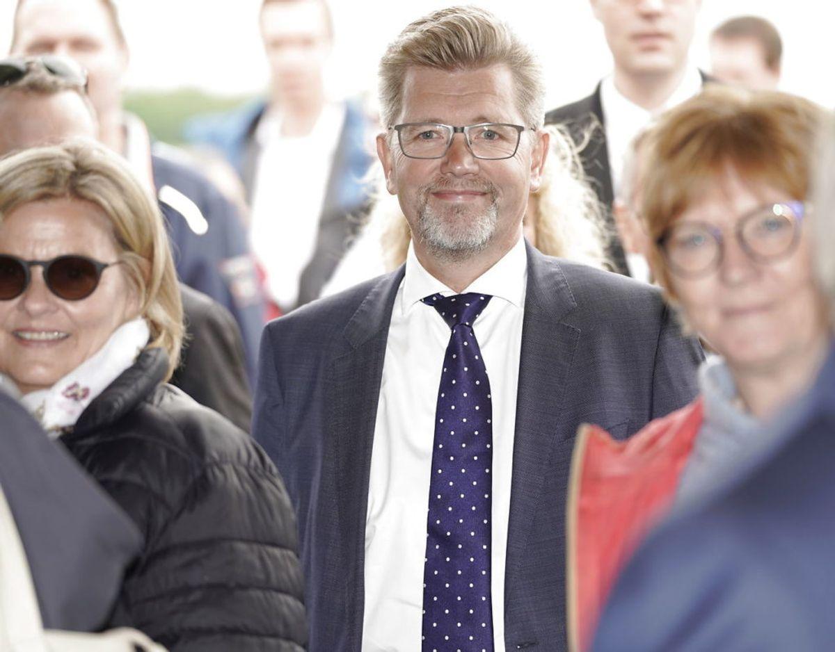 Kronprins Frederik indvier højhastighedsbanen fra Ringsted til København på Køge Nord Station. København Kommunes borgmester Frank Jensen var også til stede. Foto: Scanpix