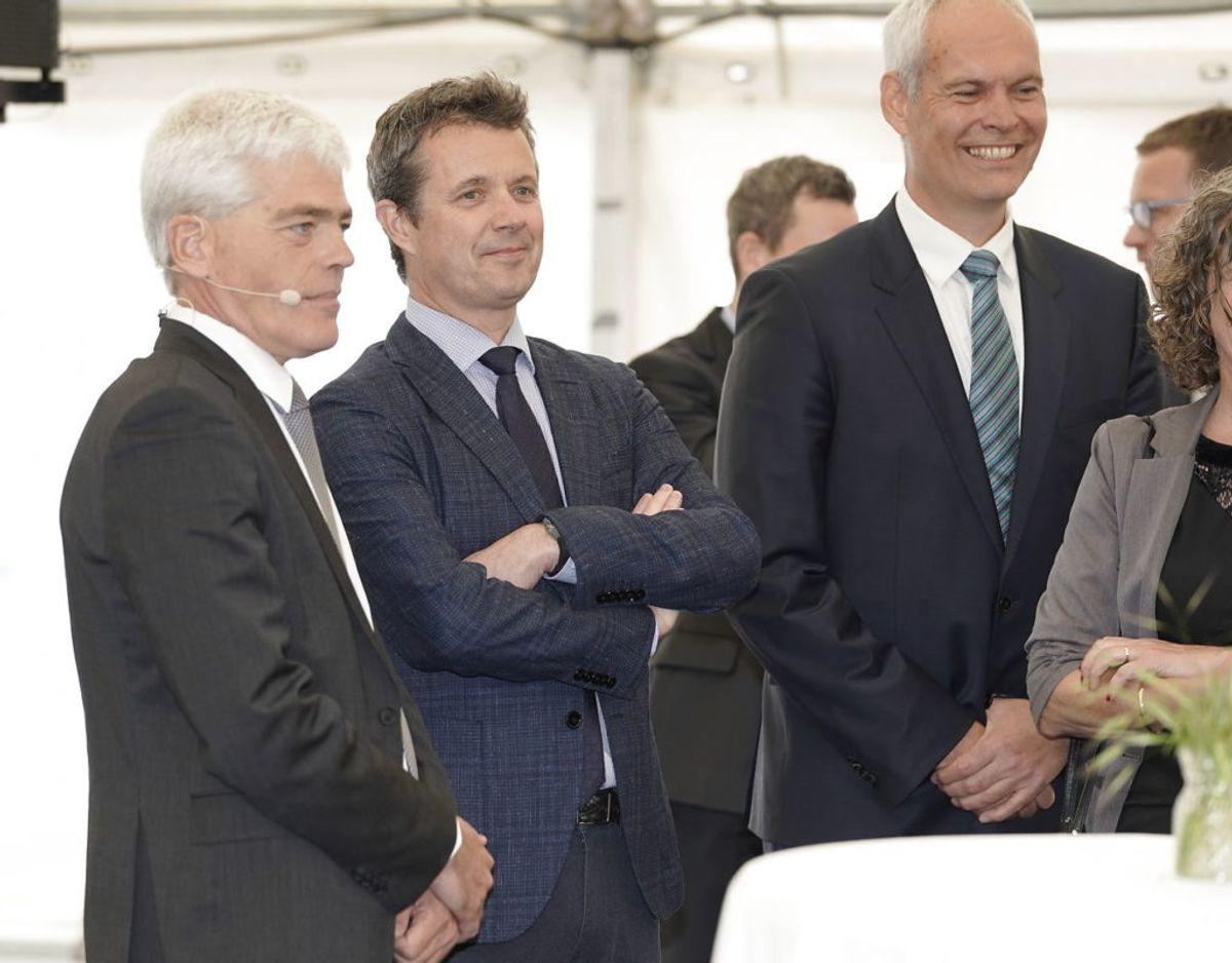 Kronprins Frederik indvier højhastighedsbanen fra Ringsted til København på Køge Nord Station. Foto: Scanpix