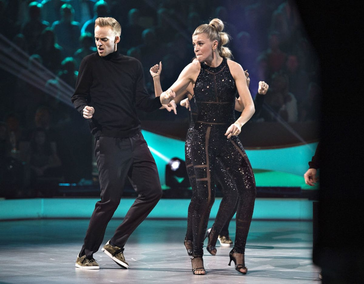 Mads Vad har været omgivet af prominente kvinder i Vild med dans. I 2016 dansede han med Mille Dinesen. Foto Scanpix