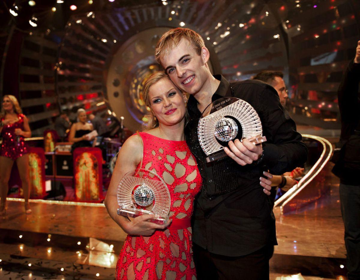 På de 13 år Mads Vad har deltaget i programmet har han vundet to gange. Første gang var med Cecilie Hother i 2010. Foto: Scanpix
