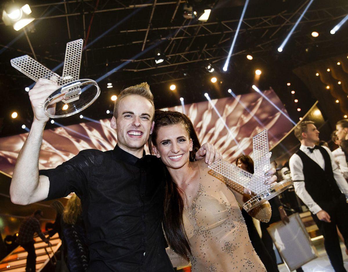 Anden gang han vandt var med bordtennisspilleren Mie Skov i 2013. Foto Scanpix