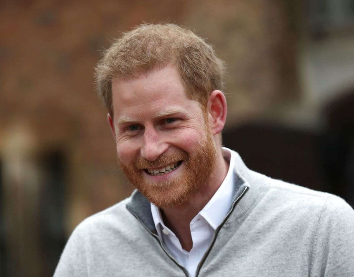 Mandag den 6. maj fortalte prins Harry til  pressen, at han og Meghan Markle endnu ikke var blevet enige om et navn. Foto: Scanpix
