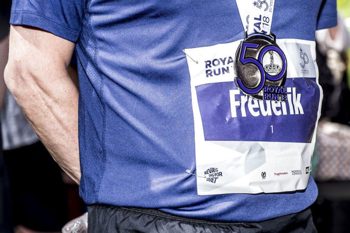 (ARKIV) Kronprins Frederik løber Royal Run i Aarhus, mandag den 21. maj 2018. Ny måling viser stor opbakning i befolkningen til kronprins Frederik, der lørdag fylder 50 år. Stort flertal mener, at han vil gøre det godt som konge. Det skriver Ritzau, fredag den 25. maj 2018.. (Foto: Mads Claus Rasmussen/Ritzau Scanpix)