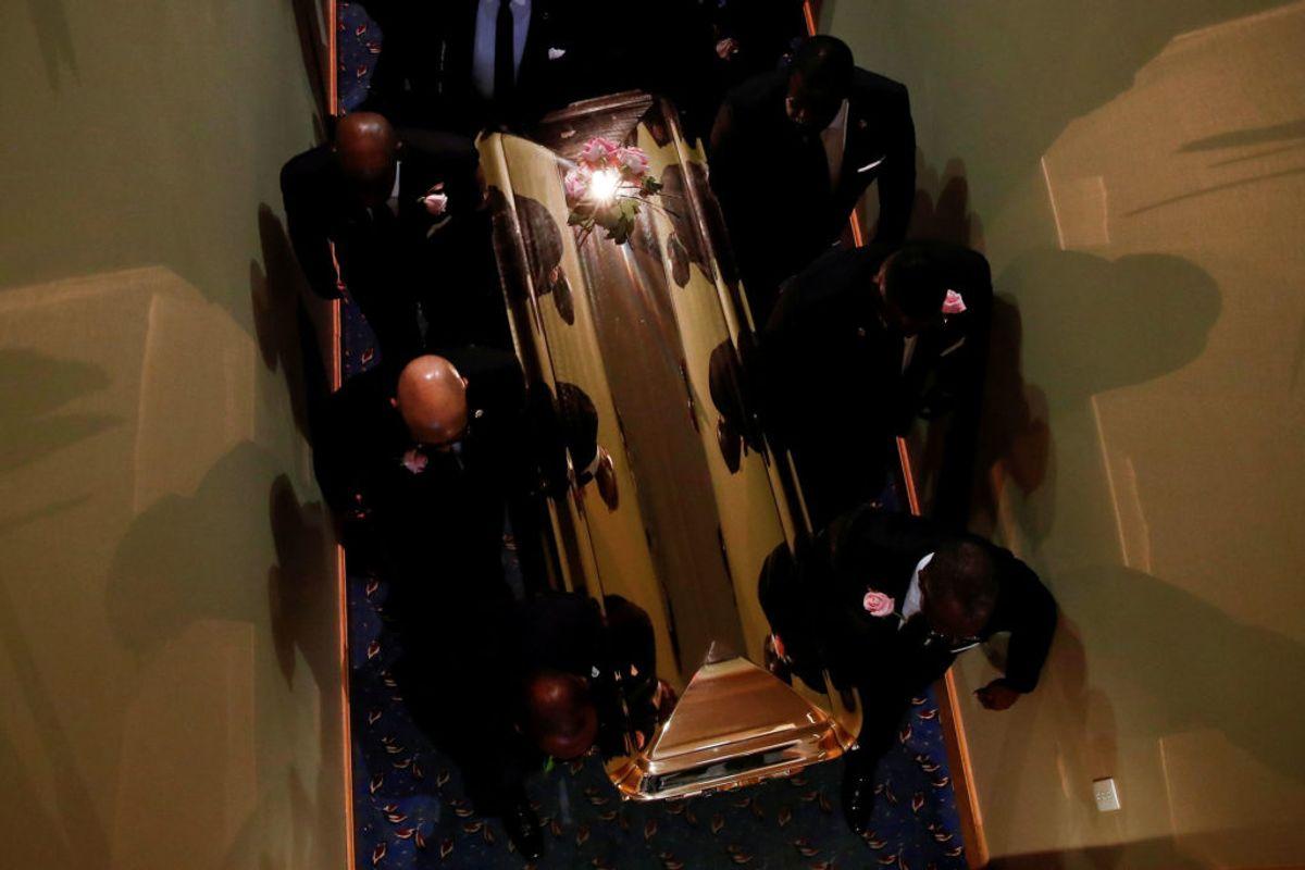 Aretha Franklins begravelse i 2018. Foto: Mike Segar/Scanpix.