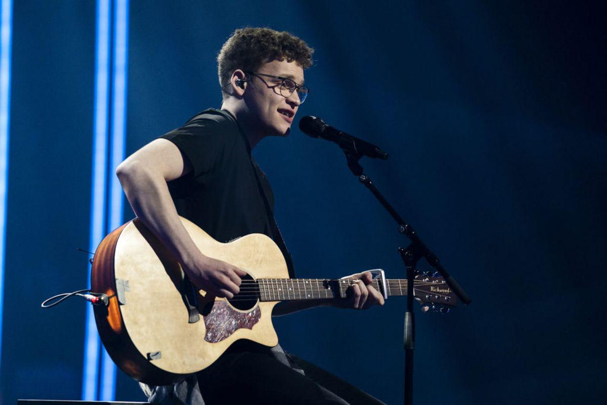 """Worth A Broken Heart"" er Benjamins bud ved finalen. (Foto: Martin Sylvest/Ritzau Scanpix 2019)"