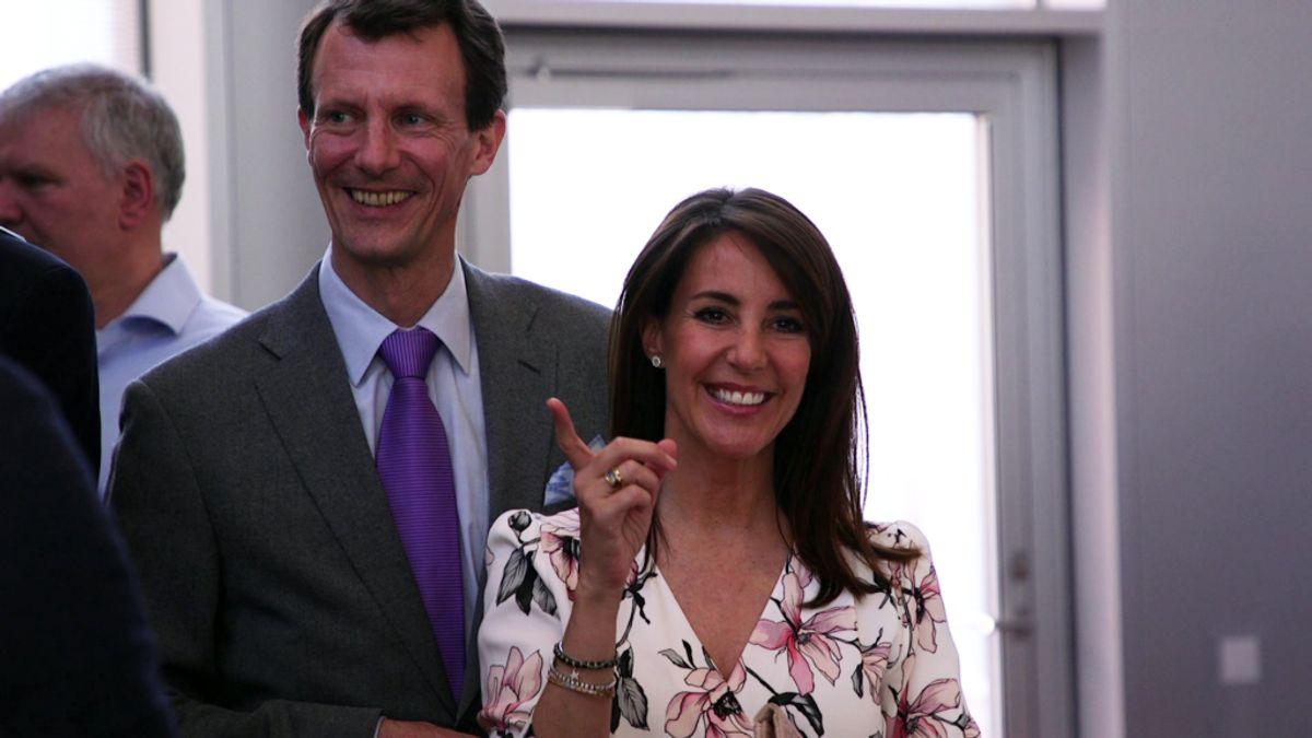 Der var smil og glade dage hos prinsesse Marie til prisuddelingen.
