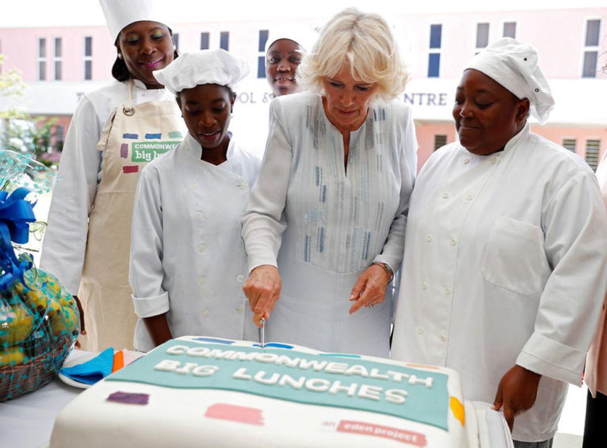 Da Camilla skar kagen til var der ikke et øje tørt. Foto: Scanpix