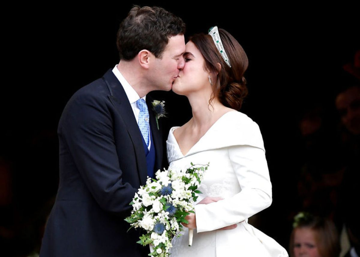 Det charmerende par så mere end glade ud for hinanden. Foto: Scanpix