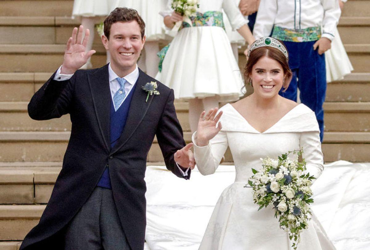 Det var et storslået bryllup for Jack Brooksbank og prinsesse Eugenie. Foto: Scanpix