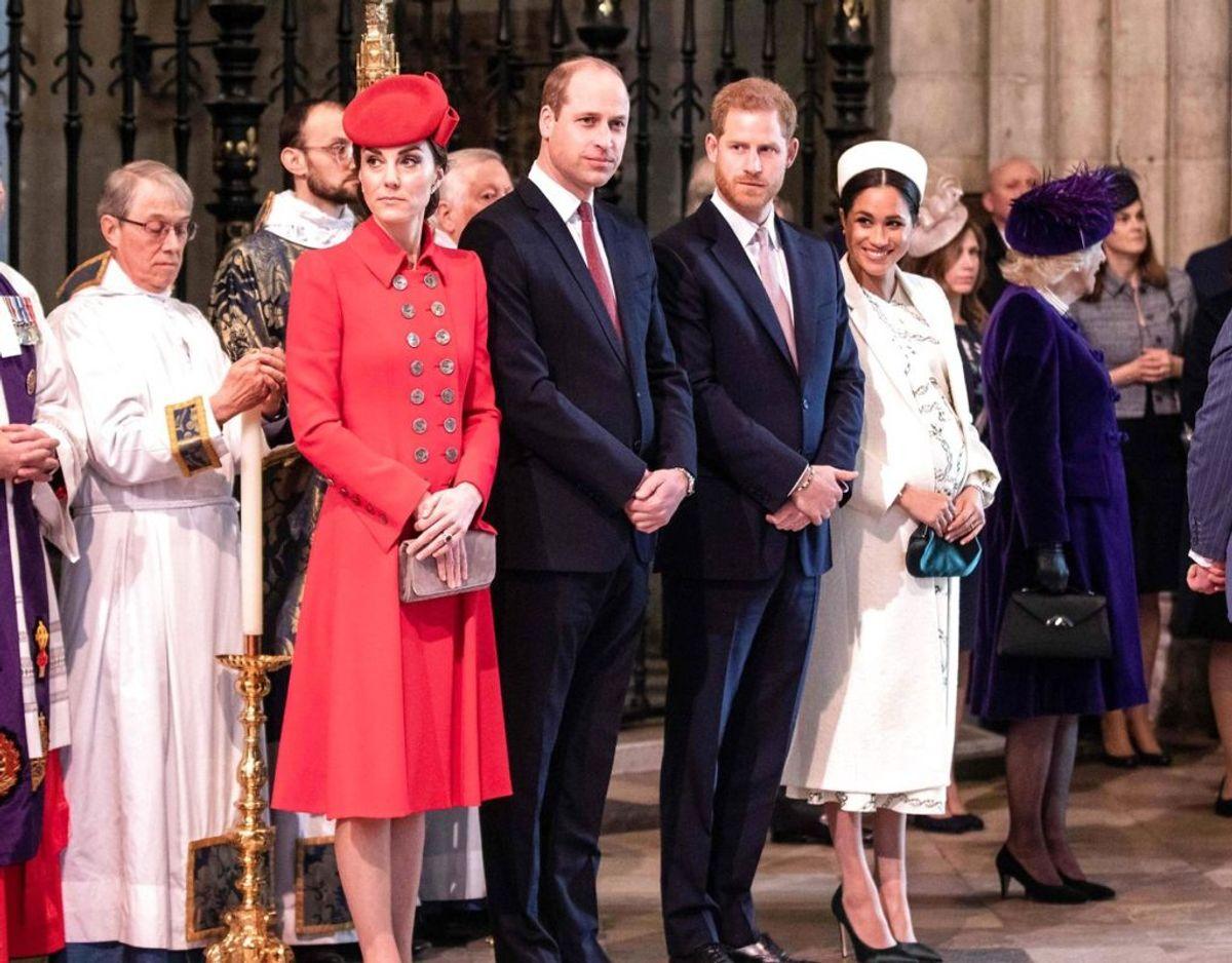 Ifølge Nick Bullen, manden bag TrueRoyal.tv, er der en strid mellem de to kongelige par. Men det er mellem prinserne den står og ikke hertuginderne.  Foto: Scanpix/Richard Pohle / POOL / AFP.
