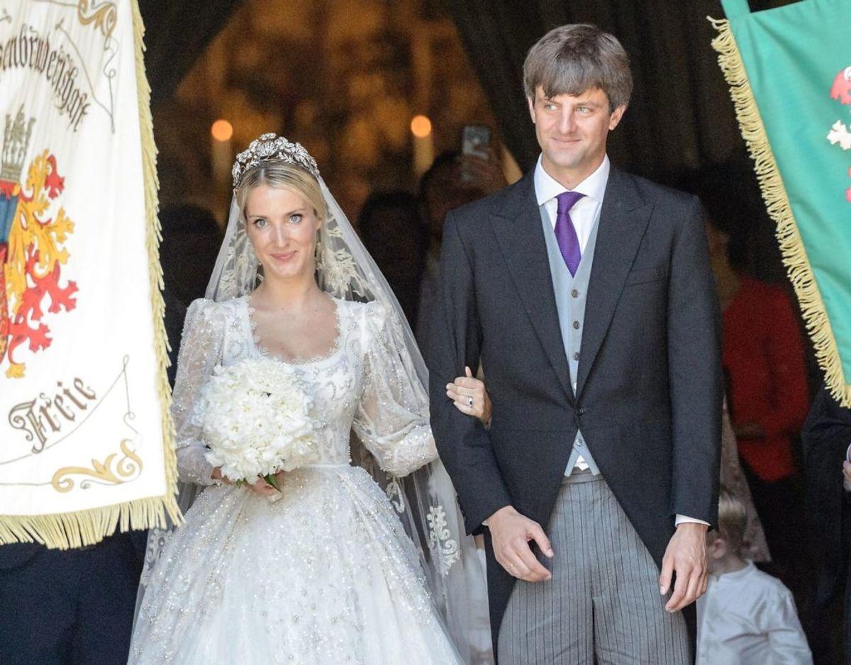 Den tyske prins Ernst August Junior ses her til sit bryllup i 2017, hvor han blev gift med russiske Ekaterina. Foto: Scanpix
