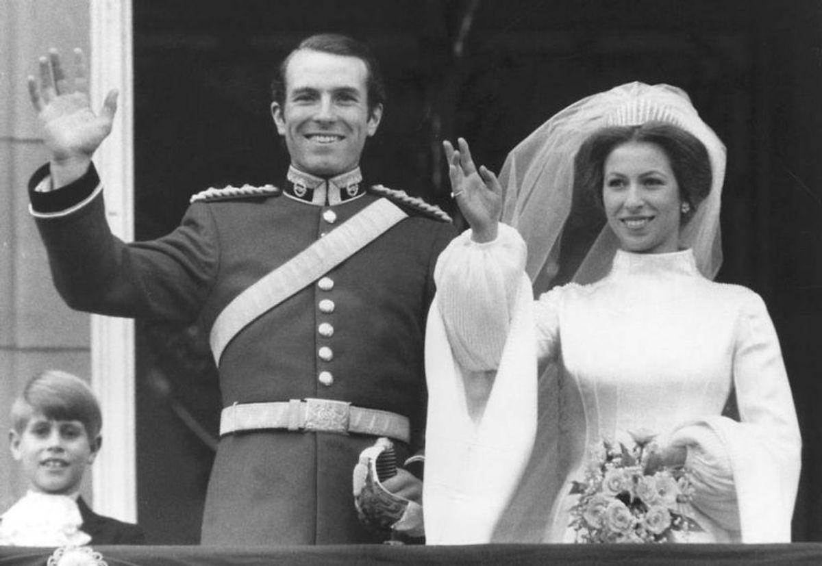 I 1973 giftede prins Charles' søster prinsesse Anne sig med løjtnant Mark Phillips. I 1989 blev de separeret og skilsmissen gik igennem i 1992. De fik fire børn sammen. Klik videre i galleriet for at se flere royale skilsmisser. Foto: Scanpix (Arkivfoto)
