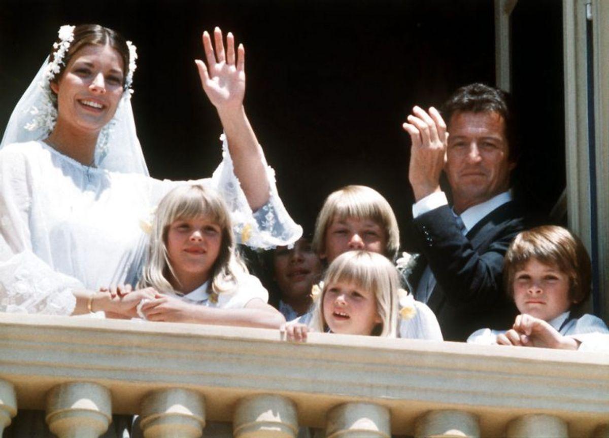 1978-1980: Prinsesse Carolines første ægteskab varede blot to år. Her var hun gift med den fransk-danske forretningsmand Philippe Junot. De blev skilt i oktober 1980. Klik videre i galleriet for at se flere royale skilsmisser. Foto: Scanpix (Arkivfoto)