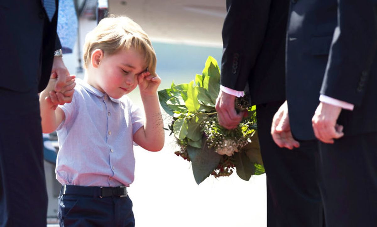 Prins George skal engang være konge. KLIK VIDERE OG SE FLERE BILLEDER AF DEN LILLE, SØDE PRINS. Foto: Scanpix