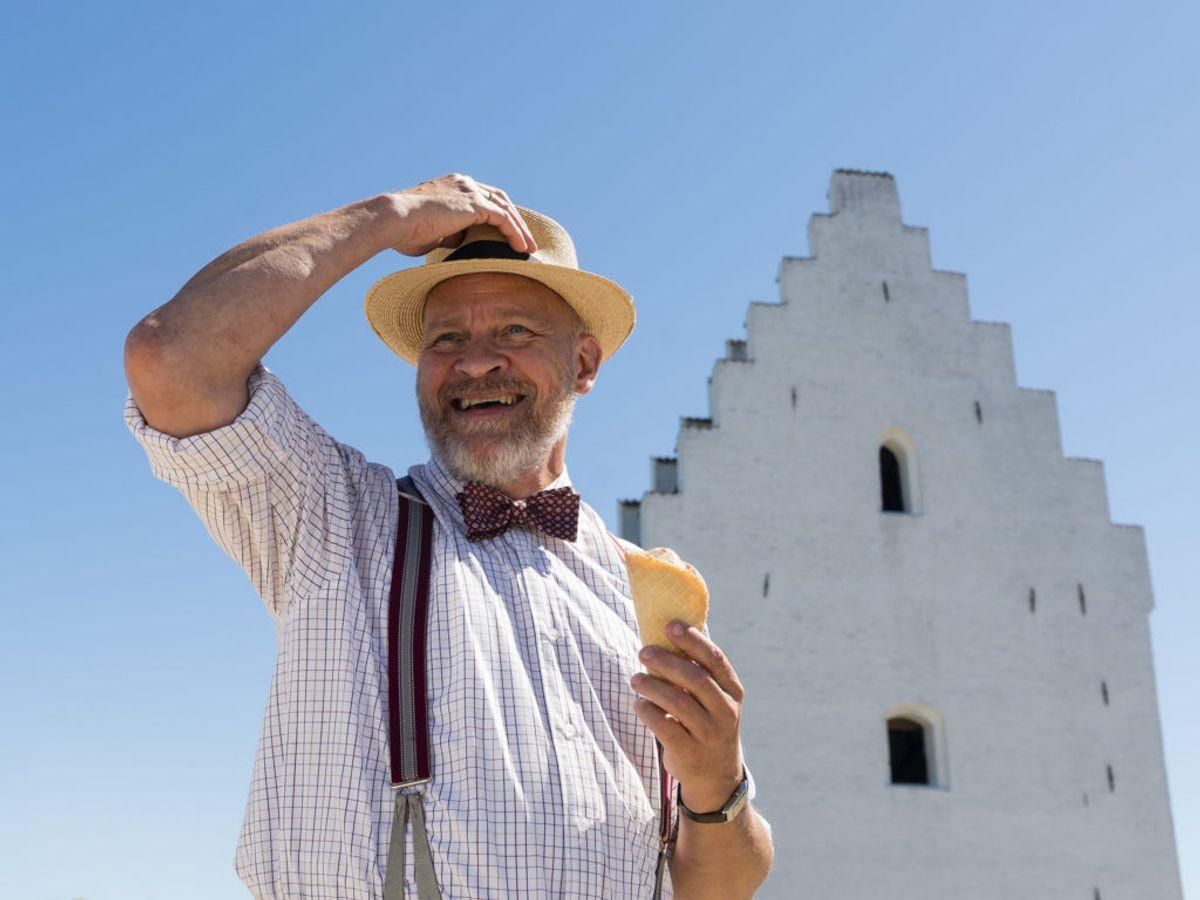 Tage Skovgaard er turist. Han satser stort på at få tyske turister til Danmark. Foto: Mike Kollöffel /TV 2