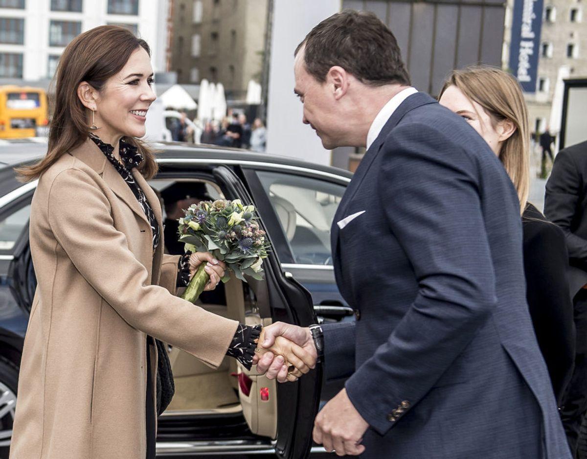 Kronprinsesse Mary har tidligere mødt uddannelses- og forskningsminister Tommy Ahlers. Foto: Scanpix