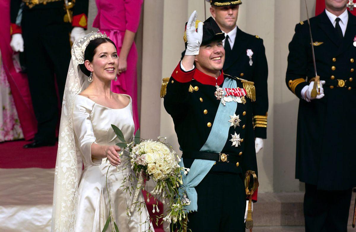 Mange husker formentlig stadig tilbage på brylluppet mellem kronprins Frederik og Mary Donaldson 14. maj 2004. Foto: Scanpix. KLIK VIDERE OG SE EN KAVALKADE AF ROYALE BRYLLUPSBILLEDER.
