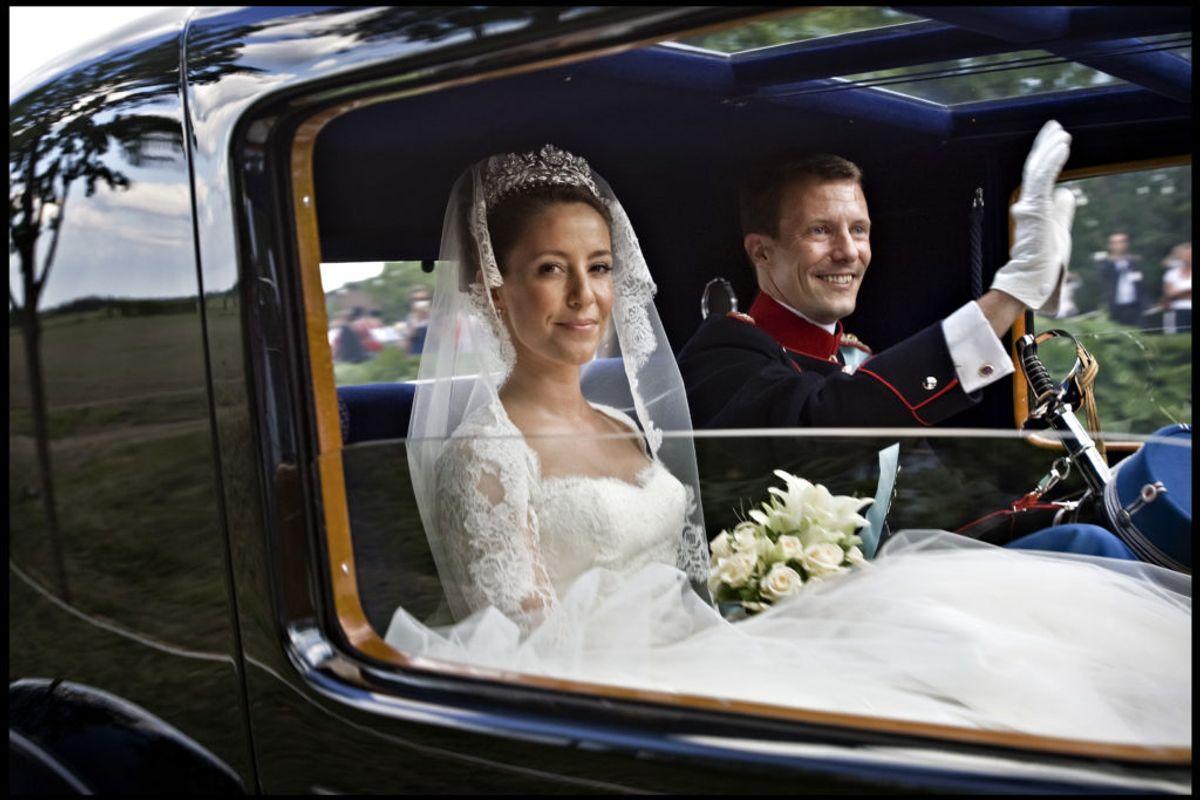 24. maj 2008 blev prins Joachim og prinsesse Marie gift i Møgeltønder Kirke. Foto: Scanpix.