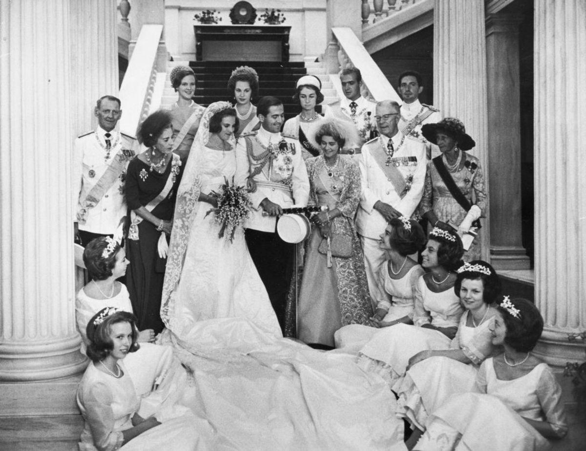 18. september 1964 blev Kong Konstantin og Prinsesse Anne-Marie' gift Athena. Foto: Scanpix.