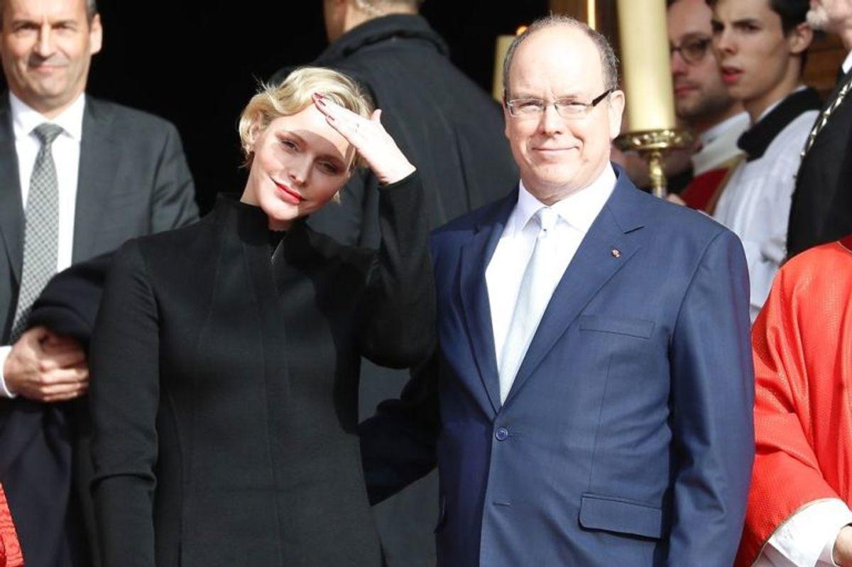 Det er sådan her, at man kender prince Albert II af Monaco og prinsesse Charlene. Men husker I hvem hun var før? Foto: Scanpix