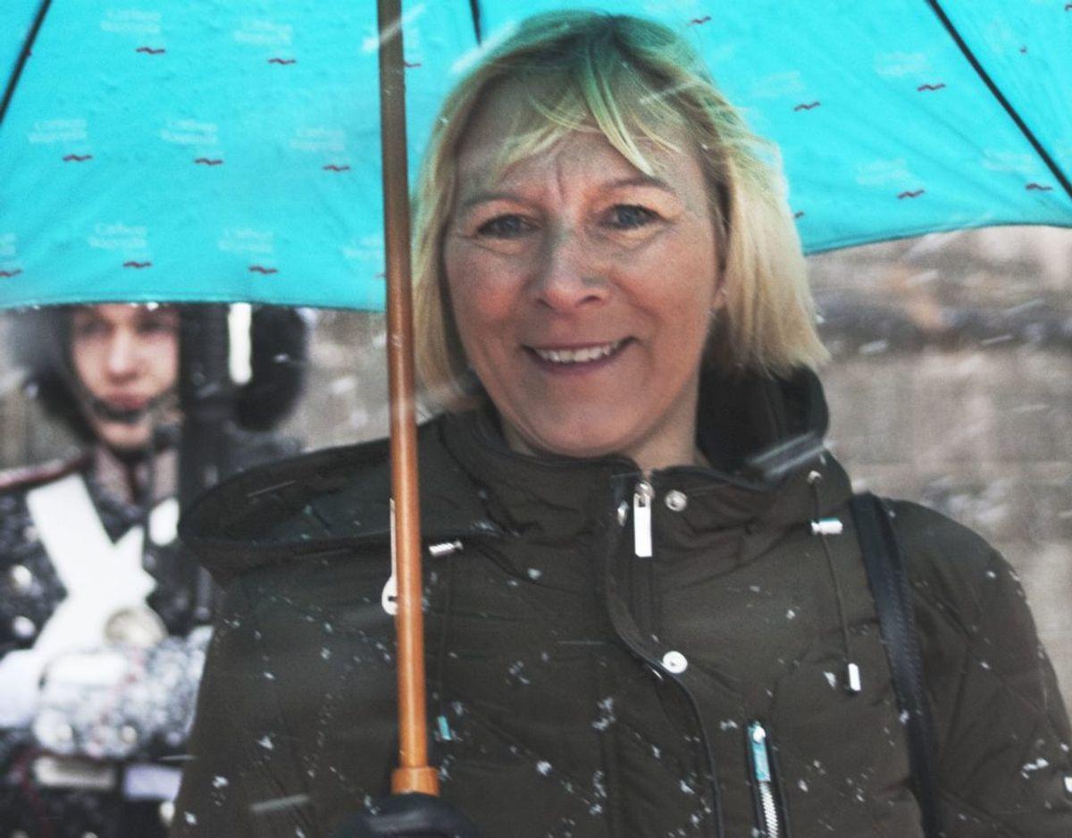 Overflyveleder i Naviair, Kastrup, Helle Dissing-Andersen, takkede for Fortjenstmedaljen i Sølv. Foto: Bjarne Lüthcke/Ritzau Scanpix.