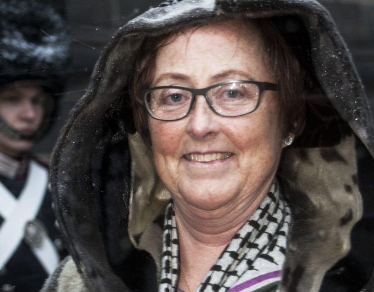 Birgit Jeppesen, IT-konsulent i Region Sjælland, takkede for Fortjenstmedaljen i Sølv efter 40 års tro tjeneste. Bjarne Lüthcke/Ritzau Scanpix.