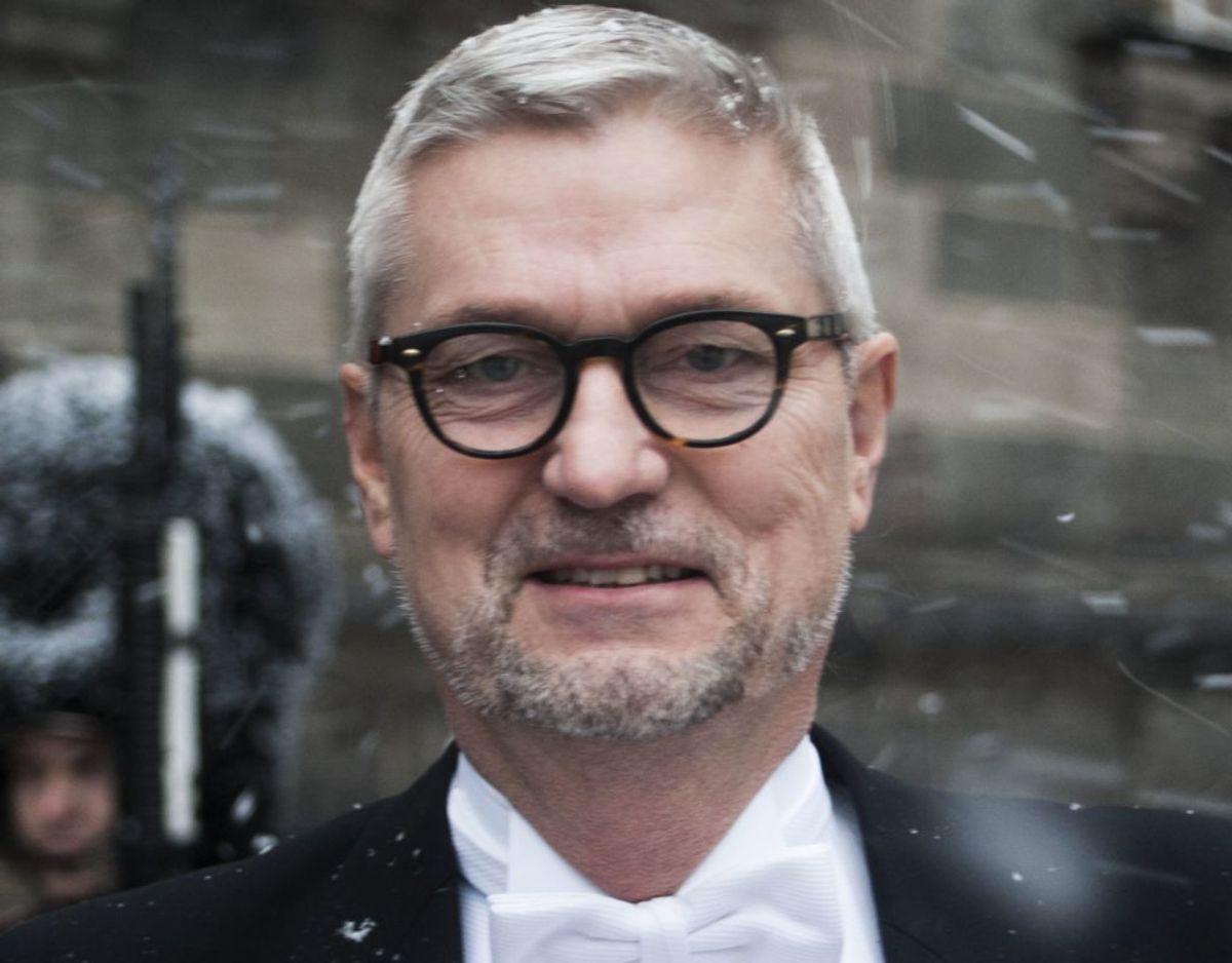 Erik Østergaard, adm. direktør i DTL Danske Vognmænd, takkede for Ridderkorset af 1. grad. Foto: Bjarne Lüthcke/Ritzau Scanpix