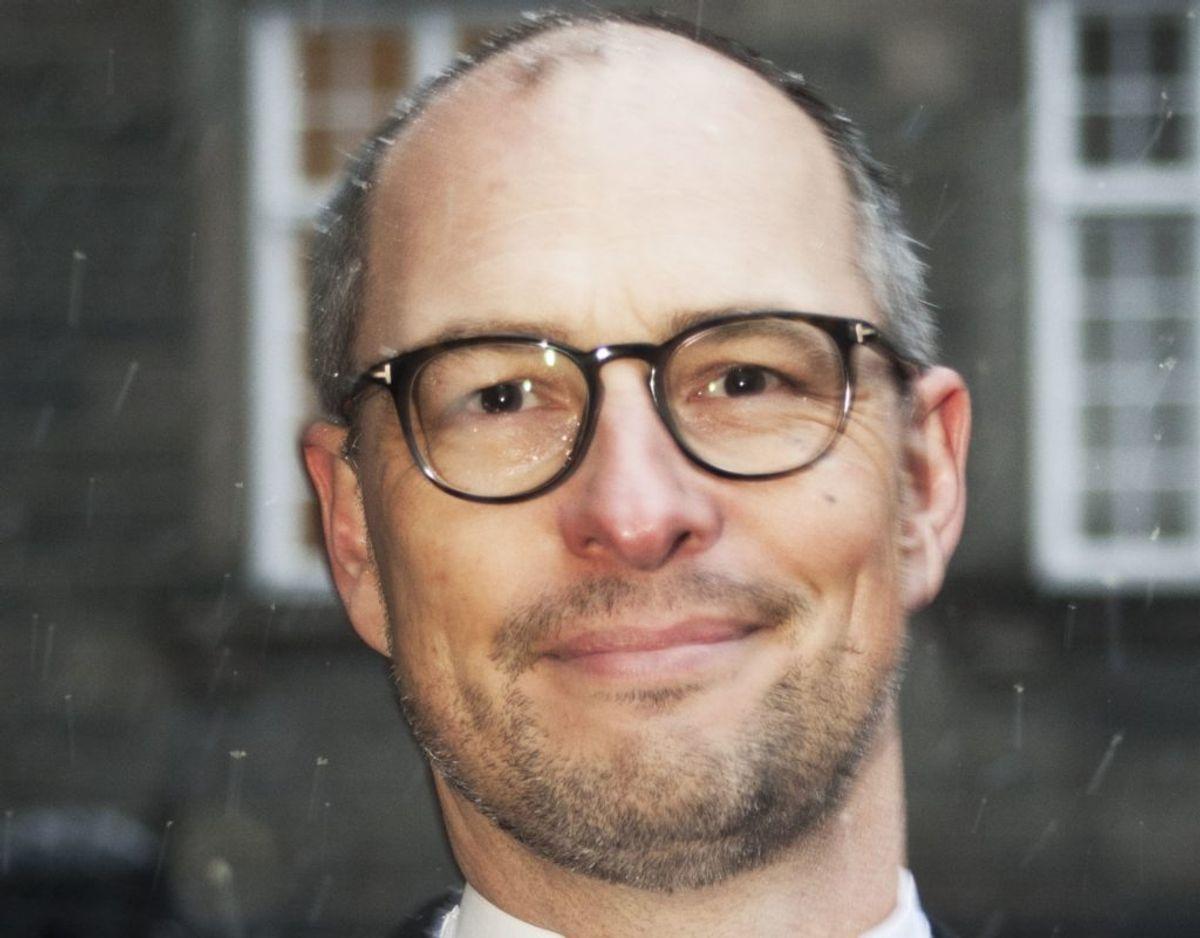 Flemming Christiansen, vicedirektør i Sundhedsdatastyrelsen, takkede for Ridderkorset. Foto: Bjarne Lüthcke/Ritzau Scanpix.