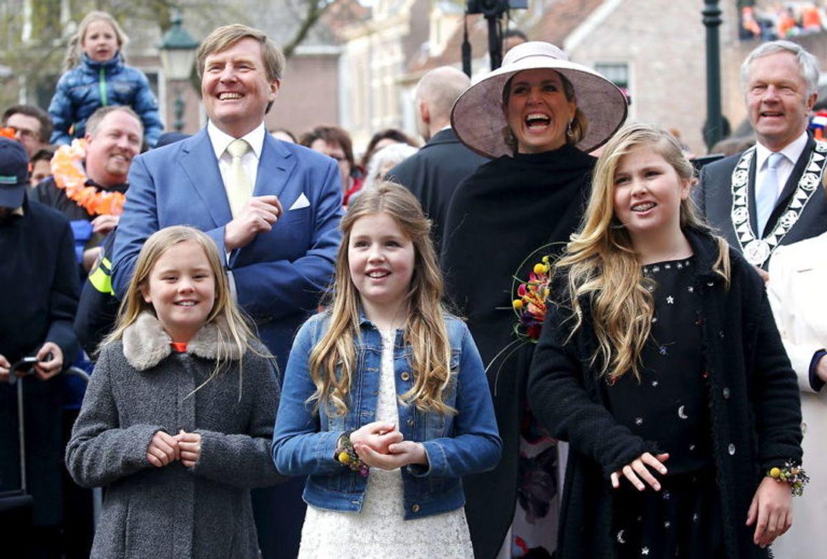 Her ses den skønne familie på Koningsdag i 2016. (Foto: Scanpix) KLIK FOR FLERE FANTASTISKE BILLEDER AF FAMILIEN!
